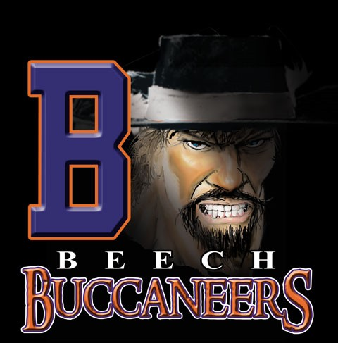 buccaneers team or school spirit tee - 9, 19 Tee