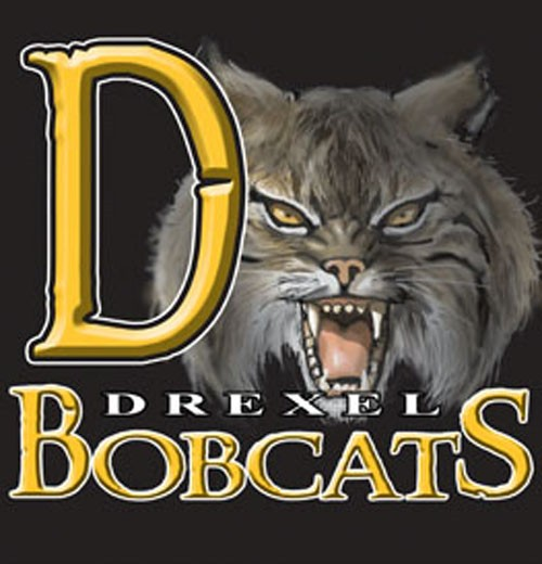 bobcats team or school letters tee - 9, 58 Tee