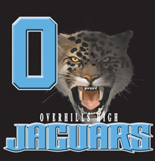 jaguars team or school letters tee - 9, 58 Tee