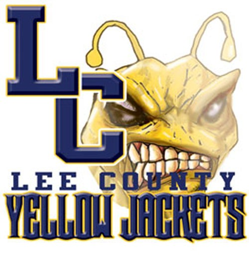 yellow jackets team or school letters tee - 9, 58 Tee