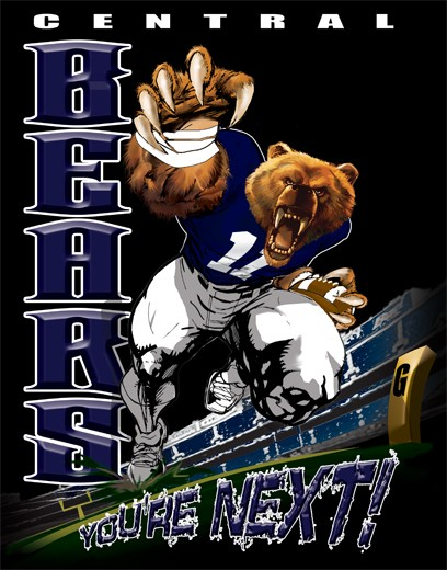 bears football player tee - 6, 33 Tee