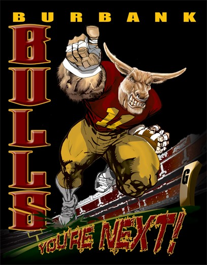 bulls football player tee - 6, 33 Tee