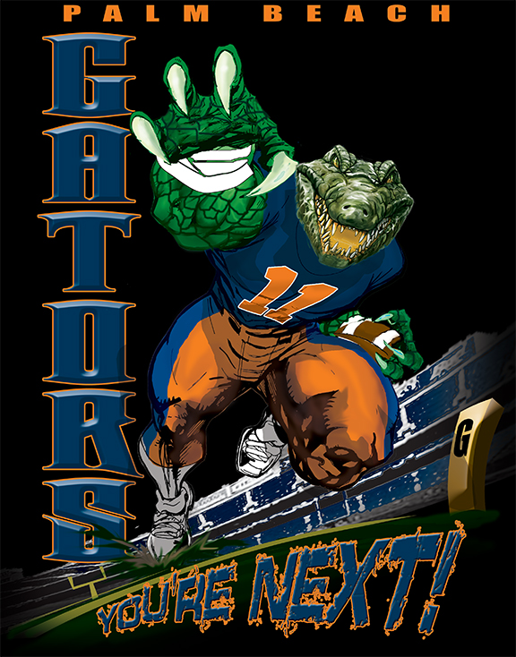 gators football player tee - 6, 33 Tee