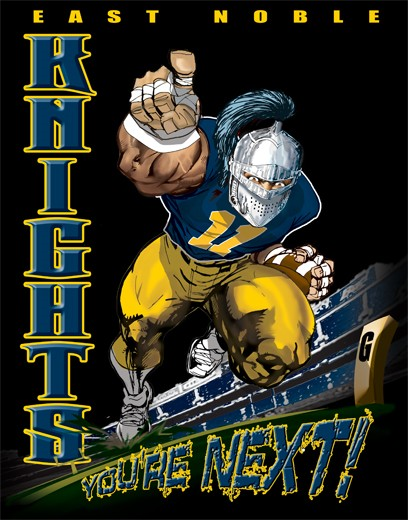 knights football player tee - 6, 33 Tee