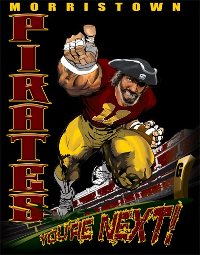 pirates football player tee - 6, 33 Tee