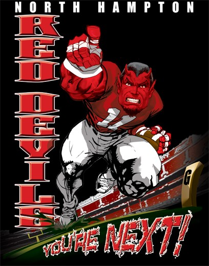 red devils football player tee - 6, 33 Tee