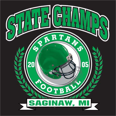 spartans football state champs tee - 6, 38 Tee