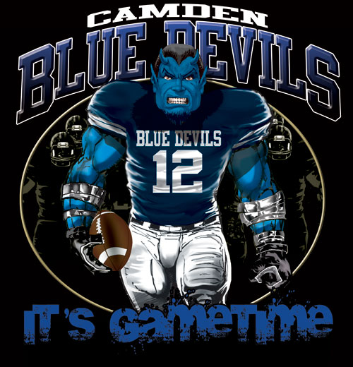 blue devils game time football tshirt - 6, 28 Tee