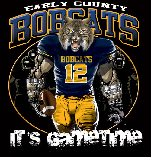 bobcats game time football tshirt - 6, 28 Tee
