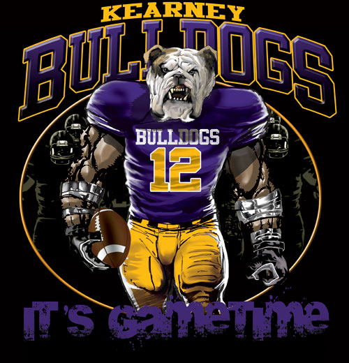 bulldogs game time football tshirt - 6, 28 Tee