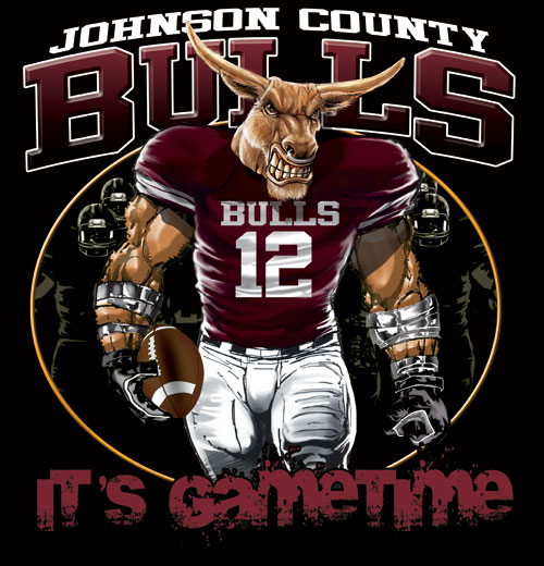 bulls game time football tshirt - 6, 28 Tee