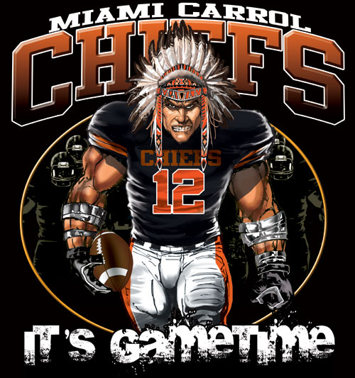 chiefs game time football tshirt - 6, 28 Tee
