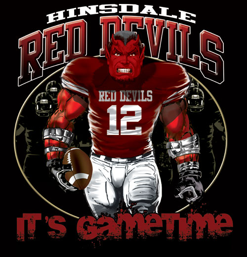 devils game time football tshirt - 6, 28 Tee