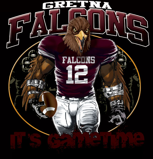 falcons game time football tshirt - 6, 28 Tee