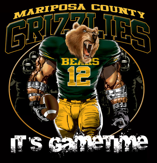 grizzlies game time football tshirt - 6, 28 Tee