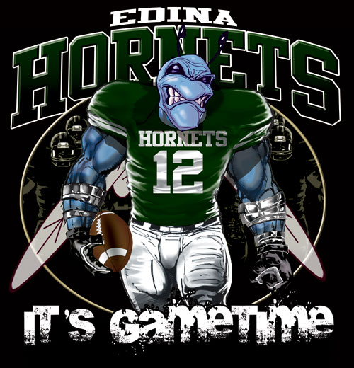 hornets game time football tshirt - 6, 28 Tee