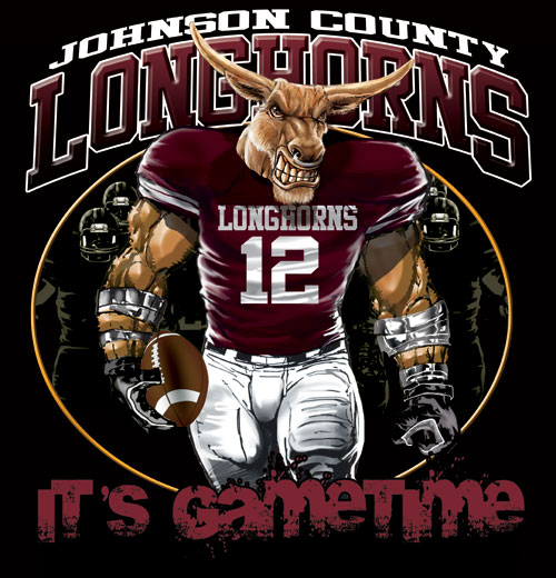 longhorns game time football tshirt - 6, 28 Tee