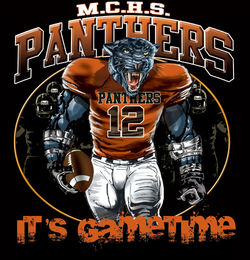 panthers game time football tshirt - 6, 28 Tee
