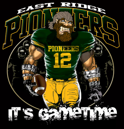 pioneers game time football tshirt - 6, 28 Tee