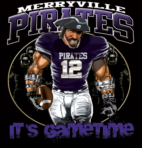 pirates game time football tshirt - 6, 28 Tee