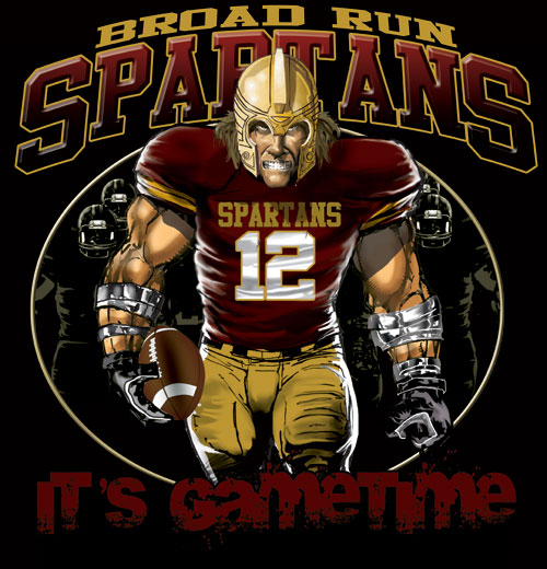 spartans game time football tshirt - 6, 28 Tee