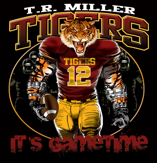 tigers game time football tshirt - 6, 28 Tee