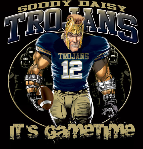 trojans game time football tshirt - 6, 28 Tee