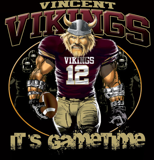 vikings game time football tshirt - 6, 28 Tee