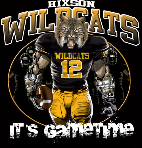 wildcats game time football tshirt - 6, 28 Tee