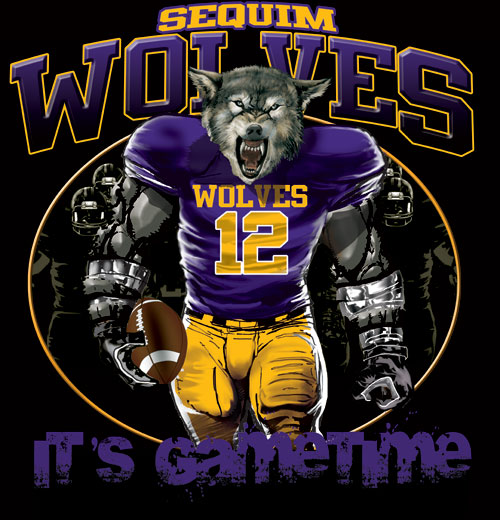 wolves game time football tshirt - 6, 28 Tee