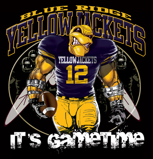 yellowjackets game time football tshirt - 6, 28 Tee