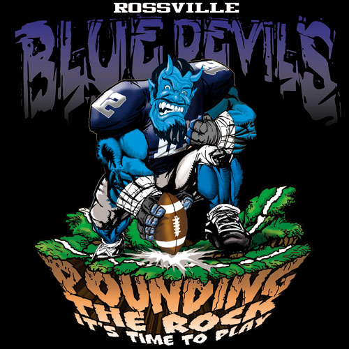 blue devils pounding the rock tshirt - 6, 29 Tee