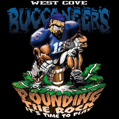 buccaneers pounding the rock tshirt - 6, 29 Tee