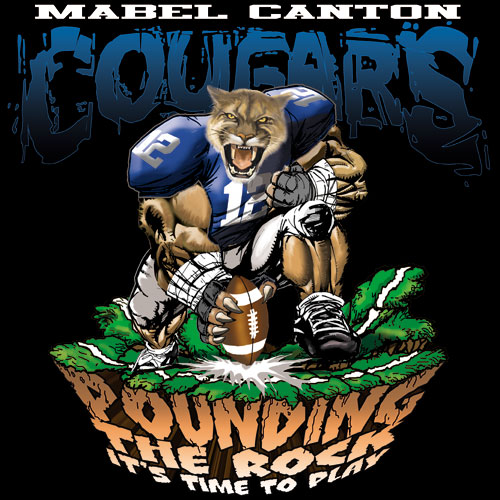 cougars pounding the rock tshirt - 6, 29 Tee