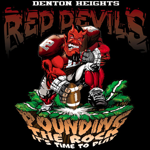 devils pounding the rock tshirt - 6, 29 Tee