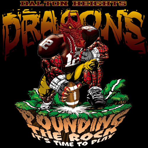 dragons pounding the rock tshirt - 6, 29 Tee
