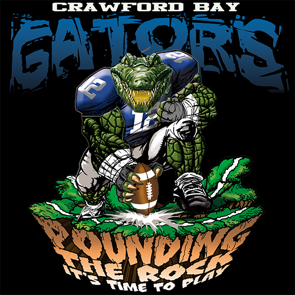 gators pounding the rock tshirt - 6, 29 Tee