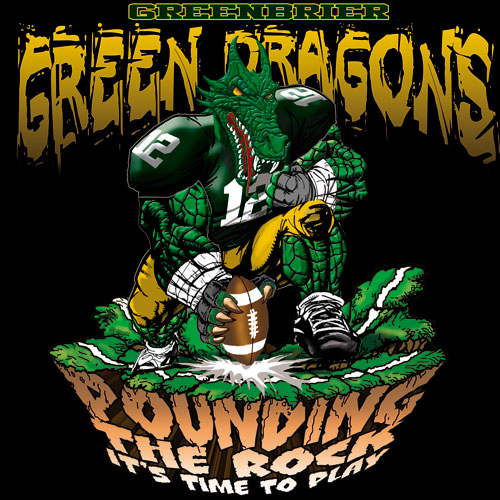 green dragons pounding the rock tshirt - 6, 29 Tee