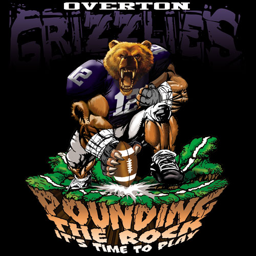 grizzlies pounding the rock tshirt - 6, 29 Tee