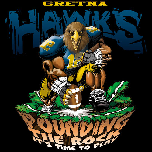 hawks pounding the rock tshirt - 6, 29 Tee