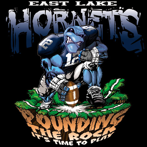 hornets pounding the rock tshirt - 6, 29 Tee