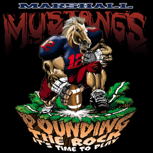 mustangs pounding the rock tshirt - 6, 29 Tee