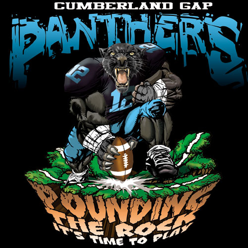 panthers pounding the rock tshirt - 6, 29 Tee