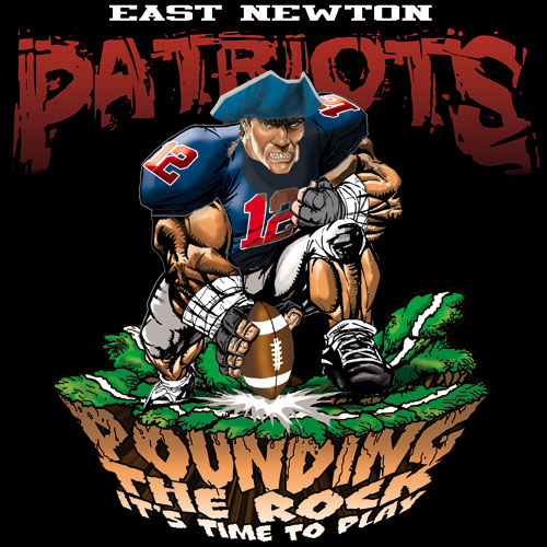 patriots pounding the rock tshirt - 6, 29 Tee