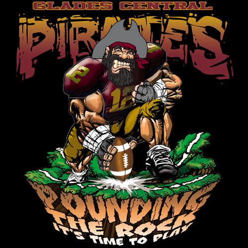 pirates pounding the rock tshirt - 6, 29 Tee