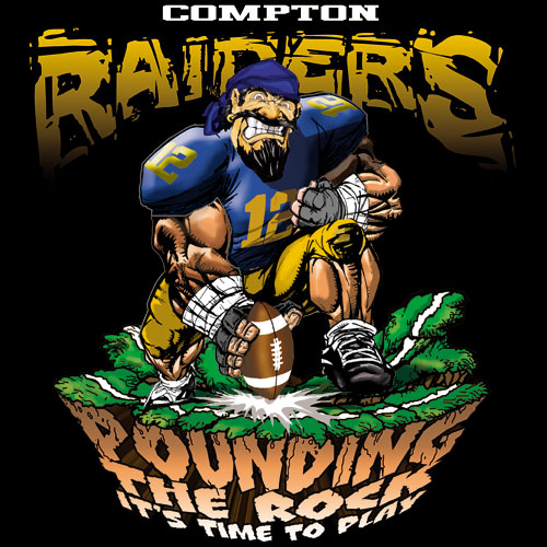 raiders pounding the rock tshirt - 6, 29 Tee