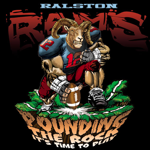 rams pounding the rock tshirt - 6, 29 Tee
