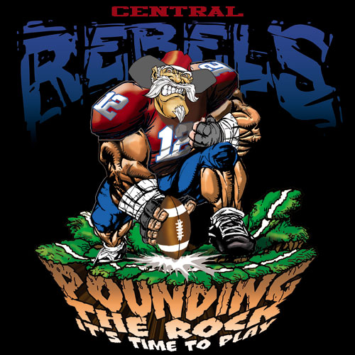 rebels pounding the rock tshirt - 6, 29 Tee