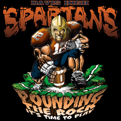 spartans pounding the rock tshirt - 6, 29 Tee