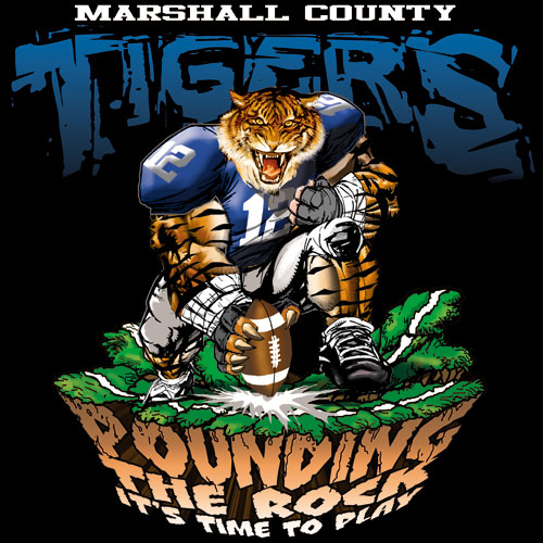 tigers pounding the rock tshirt - 6, 29 Tee